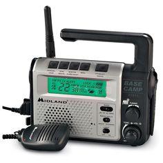 Midland Base Camp Radio, Silver-toned