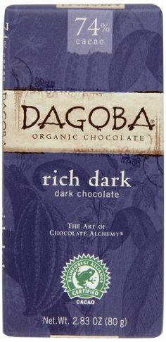 Dagoba Organic Chocolate Bar, Rich Dark (Dark Chocolate), 2.83-Ounce Bars (Pack of 12) - http://goodvibeorganics.com/dagoba-organic-chocolate-bar-rich-dark-dark-chocolate-2-83-ounce-bars-pack-of-12/