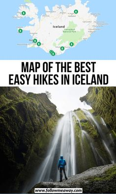 Map Of The Best Easy Hikes In Iceland the easiest hikes in Iceland best hiking spots in iceland where to go in Iceland traveling in Iceland epic hiking locations in. Iceland Travel Tips, Iceland Road Trip, Hotel Island, Oh The Places You'll Go, Places To Travel, Iceland Adventures, Hiking Spots, Wale, Places