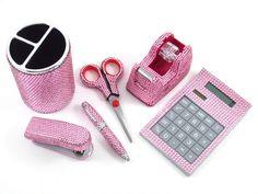 Útiles color rosa brillante