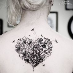 heart dotwork tattoo