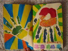 This page is for handprints, mi mano y la de Santi