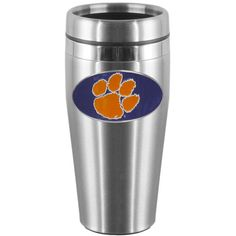 Clemson Tigers Steel Travel Mug