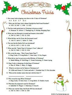 christmas trivia questions and answers | Christmas Quiz Questions And Answers::