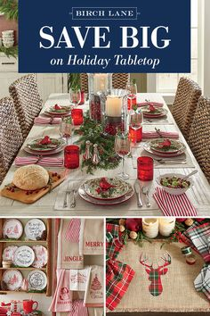 A more festive feast starts with your table setting. Shop our Holiday Tabletop Sale to find the perfect serving platter, decorative plates, and patterned linens to give your meal seasonal style. Explore more at Birchlane.com, and sign up to receive updates about our latest sales and newest arrivals.