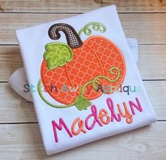 Pumpkin Swirly Vines Applique - 4 Sizes! | What's New | Machine Embroidery Designs | SWAKembroidery.com Stitch Away Applique