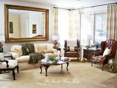 A Stroll Thru Life: Thrift Store Room Makeover # 3 - Small Living Room