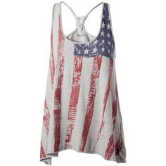 Tommy Hilfiger Cailyn american flag tank top ($25) ❤ liked on Polyvore featuring tops, shirts, tank tops, blusas, tanks, cotton tank top, crew neck shirt, american flag singlet, print tank and crew-neck shirts