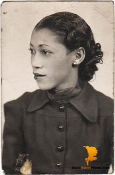 Antique African American Photo Pretty Woman Old Black History Americana.  https://blackhistoryphotos.com/collections/vintage-1940-present-photos-african-american