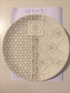 Combination of repeated patterns. Pottery Painting, Ceramic Painting, Ceramic Art, Ceramic Pottery, Islamic Art Pattern, Arabic Pattern, Pattern Art, Mosaic Patterns, Painting Patterns