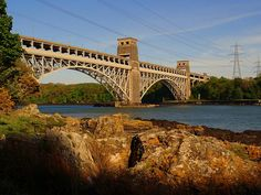 Britannia Bridge - Anglesey, North Wales, UK;  photo by PrestonWales UK, via Flickr
