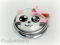 Miroir de sac happy kitten