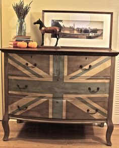 antique horse tops faded union jack  meg made designs: house and furniture projects blog