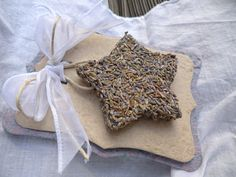 Lavender star, a great way to use dried lavender sachet buds.  These would make cute holiday ornaments also.