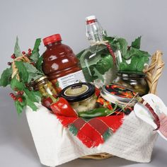 Bloody Mary Basket, 10 Homemade Hostess Gifts for the Holidays