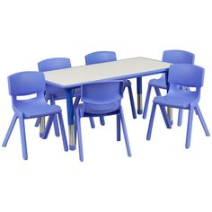 14.5-23.5-Inch Height-adjustable Plastic Preschool Table Set - Overstock Shopping - Big Discounts on Flash Furniture Kids' Table & Chair Sets