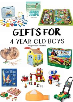 Playful gifts for 4 year old boys that they'll love! Playful gifts for 4 year old boys that they'll love! 4 Year Old Boy Birthday, Birthday Gifts For Boys, Fourth Birthday, Birthday List, Toddler Boy Gifts, Toddler Toys, 4 Year Old Christmas Gifts, Christmas 2016, Xmas