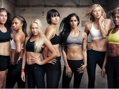 First look at the new Nike Women + Annie Leibovitz campaign! (L-R) Hope Solo Allyson Felix Laura Enever Li Na Sofia Boutella Maria Sharapova Perri Shakes-Drayton Annie Leibovitz, Anuncio Nike, Nike Md Runner 2, Adidas Cap, Adidas Sneakers, Shoes Sneakers, T Shirt Pink, Maria Sharapova, Sport Motivation