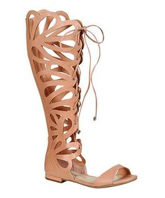 Look at this #zulilyfind! Breckelle's Nude Cutout Gladiator Sandal by Breckelle's #zulilyfinds