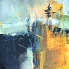 Passage-intuitive abstract landscape by Joan Fullerton Acrylic ~ 16 x 16