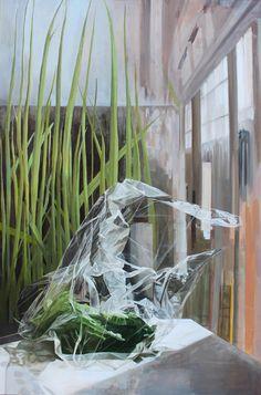 "Saatchi Online Artist: Naomi Mendel; Oil, 2011, Painting ""Lettuce"""