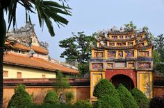 Temple of father of the dynasty, Hung Mieu in the citadel, Hoang Thanh, Hue, Vietnam Big Ben, Hue, Vietnam, Temple, Father, Exterior, Stock Photos, Mansions, House Styles
