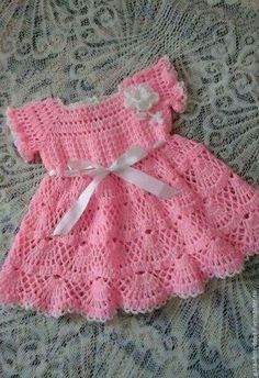 Best Ideas For Knitting Baby Patterns Girl Doll Clothes Best Picture For Crochet headband For Your Taste You are looking for something, and it. Crochet Baby Dress Pattern, Baby Dress Patterns, Baby Girl Crochet, Crochet Baby Clothes, Baby Knitting Patterns, Crochet For Kids, Crochet Summer, Lidia Crochet Tricot, Baby Sweaters