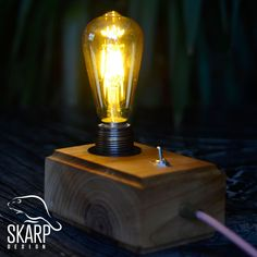 Skarp's Wood Design, No: SD 00601 Handmade, Best Quality Walnut Wood, Pure Design Skarp Design - 2018 Edison Lamp, Walnut Wood, Wood Design, Sd, Light Bulb, Smile, Pure Products, Lighting, Luxury