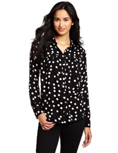 D.E.P.T. Women's Irregular Dot Blouse « Clothing Impulse
