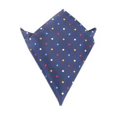 Navy Blue with Confetti Polka Dots Pocket Square by OTAA | Suit Handkerchief & Men's Pocket Squares  | Online Ties and Accessories  Australia | www.otaa.com.au | OTAA
