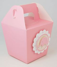 Pink Elephant Baby Shower and Birthday Party by MLPaperCreations, $18.00; could use these to hold candy from candy bar