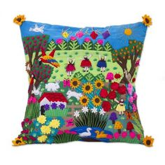 Shop unique, award-winning Artisan treasures by NOVICA, in association with National Geographic. Each original piece goes through a certification process to guarantee best value and premium quality. Cushion Covers, Pillow Covers, Felt Cushion, Applique Cushions, Origami, Pattern Art, Wool Felt, Felted Wool, Decorative Throw Pillows