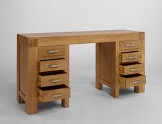 Santana Blonde Oak Desk/Dressing Table - Ametis - By Collection