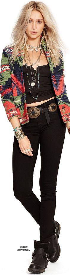 Ralph Lauren Fall 2015 Denim & Supply Collection • ≫∙∙☮ Bohème Babe ☮∙∙≪• ❤️ Babz ✿ιиѕριяαтισи❀ #abbigliamento #bohojewelry #boho