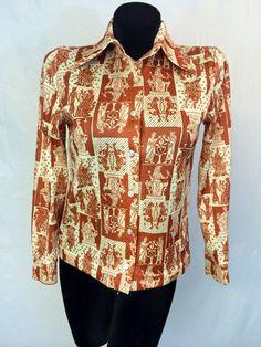 Devon Brand Royal Polyester Shirt by InTheRoughFashion on Etsy
