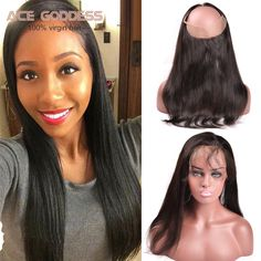 7A Unprocessed Lace Frontal With Baby Hair Peruvian Virgin Hair Straight 360 Lace Frontal Closure Straight Human Hair Extensions