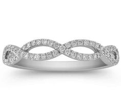 Infinity Diamond Ring 0.27 tcw in 14K White Gold