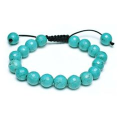 Bling Jewelry Turquoise Unisex Inspired by Shamballa Jewels Bracelet 11mm Bling Jewelry. $12.99. Macrame nylon cord. 11mm turquoise beads. Weighs 24.3 grams. Adjustable from 7 to 9.5in. Inspired by Shamballa Jewels