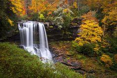Autumn At Dry Falls - Highlands Nc Waterfalls Photograph  - Autumn At Dry Falls - Highlands Nc Waterfalls Fine Art Print