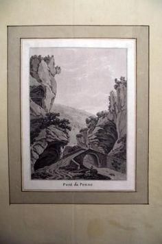 1776 Rosenberg Aquatint PONT DE PENNE Jura SWITZERLAND wash SUISSE