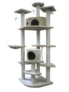 Cat Tree Condo Furniture 36 Level Scratching Post Pet House Beige Cream New in Pet Supplies, Cat Supplies, Furniture & Scratchers Cat Tree House, Cat Tree Condo, Cat Condo, Cool Cat Trees, Cool Cats, Feral Cat House, Cat Tree Plans, Large Cat Tree, Furniture Scratches