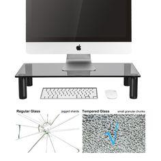 White Puter Riser Monitor Stand Desktop Pc