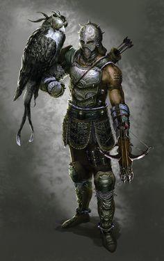 a character, Alan Chanhyuk Lee on ArtStation at Fantasy Warrior, Fantasy Male, Fantasy Rpg, Medieval Fantasy, Fantasy Artwork, Fantasy Character Design, Character Concept, Character Art, Character Creation