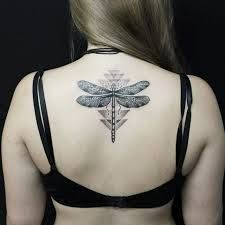 Image result for dragonfly geometric tattoo