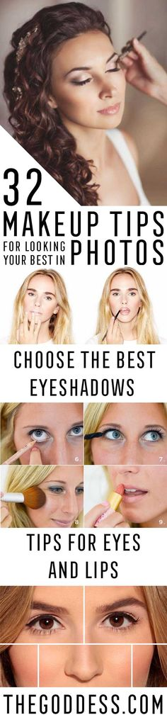 Makeup Tips For Looking Your Best In Photos - Make Up Tips And Tricks Including Eyeshadows, Brows, Eyes, Products And Eyebrows Ideas That Will Help You Look Amazing In Photos. Covers Different Hair Colors For Photos And Different Faces, Lipsticks, Includi https://www.youtube.com/channel/UC76YOQIJa6Gej0_FuhRQxJg