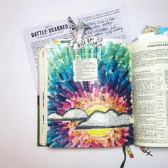 "Tonya Hamilton (@messybible) on Instagram: ""On day 4 of the Illustrated Faith devo kit Rise Up, Kristen challenges us to revisit a major storm…"" Scripture Cards, Bible Verses, Art Journaling, Illistrated Faith, Devotional Journal, Bible Journal, Bible Drawing, 1 Chronicles, This Is Love"