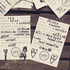 Vyrobit na svatbu tyhle dotazníky byl božskej nápad. Včera večer jsme se při čtení hrozně nasmáli. Vítězem jsou kluci našich kavárníků, ty to fakt vychytali ❤️#duffkovi Blush Wedding Reception, Grey Wedding Decor, Blush And Grey Wedding, Blush Wedding Cakes, Grey Wedding Invitations, Blush Wedding Flowers, Rustic Wedding, Wedding Decorations, Wedding Games