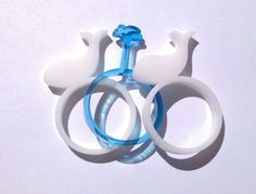 White Whale ring #acrylic