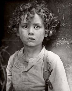 Photo by Lewis Hine, Paris gamin (street child in Paris) circa 1918