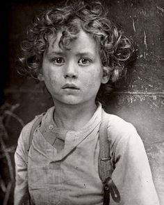 Photo by Lewis Hine, Paris gamin (street child in Paris) circa 1918